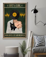 Just A Girl Music And Cat 11x17 Poster lifestyle-poster-1