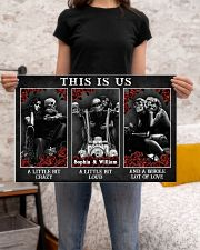 Personalized Motorcycling Skeleton This Is Us 24x16 Poster poster-landscape-24x16-lifestyle-20