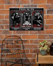 Personalized Motorcycling Skeleton This Is Us 24x16 Poster poster-landscape-24x16-lifestyle-24