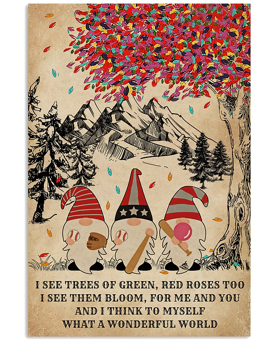 Baseball Gnomes I See Trees Of Green 11x17 Poster