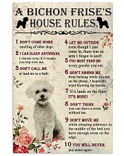 A Bichon Frise's House Rules 11x17 Poster front