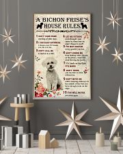 A Bichon Frise's House Rules 11x17 Poster lifestyle-holiday-poster-1