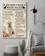 A Bichon Frise's House Rules 11x17 Poster lifestyle-poster-1