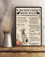 A Bichon Frise's House Rules 11x17 Poster lifestyle-poster-3