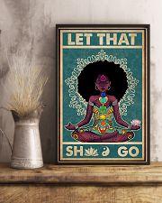Retro Let That Black Girl Yoga 16x24 Poster lifestyle-poster-3