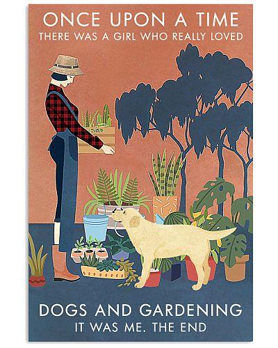 Vintage Once Upon Gardening Labrador Retriever