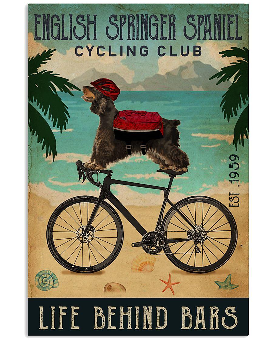 Cycling Club English Springer Spaniel 11x17 Poster
