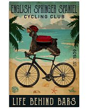 Cycling Club English Springer Spaniel 11x17 Poster front