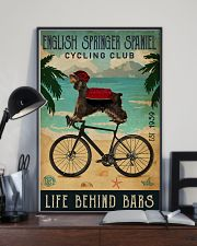 Cycling Club English Springer Spaniel 11x17 Poster lifestyle-poster-2
