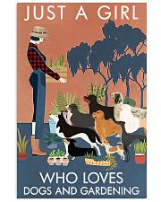 Vintage Just A Girl Loves Gardening And Dogs 11x17 Poster front
