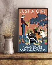 Vintage Just A Girl Loves Gardening And Dogs 11x17 Poster lifestyle-poster-3