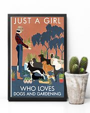 Vintage Just A Girl Loves Gardening And Dogs 11x17 Poster lifestyle-poster-8