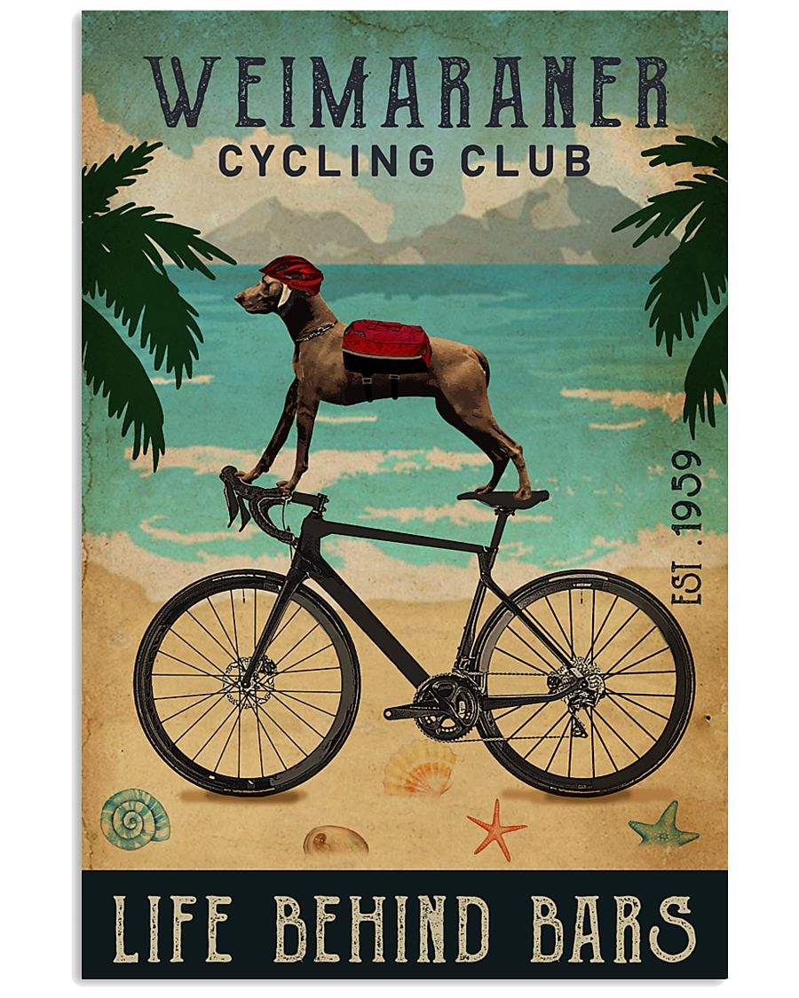 Cycling Club Weimaraner 11x17 Poster