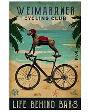 Cycling Club Weimaraner 11x17 Poster front