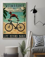 Cycling Club Weimaraner 11x17 Poster lifestyle-poster-1