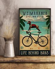 Cycling Club Weimaraner 11x17 Poster lifestyle-poster-3