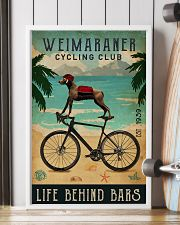 Cycling Club Weimaraner 11x17 Poster lifestyle-poster-4