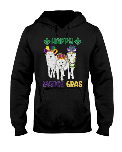 Happy Pawdi Gras Gray Wolf