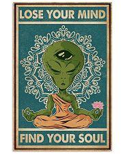 Retro Find My Soul Alien Yoga 11x17 Poster front