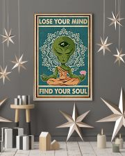 Retro Find My Soul Alien Yoga 11x17 Poster lifestyle-holiday-poster-1