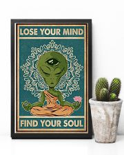 Retro Find My Soul Alien Yoga 11x17 Poster lifestyle-poster-8