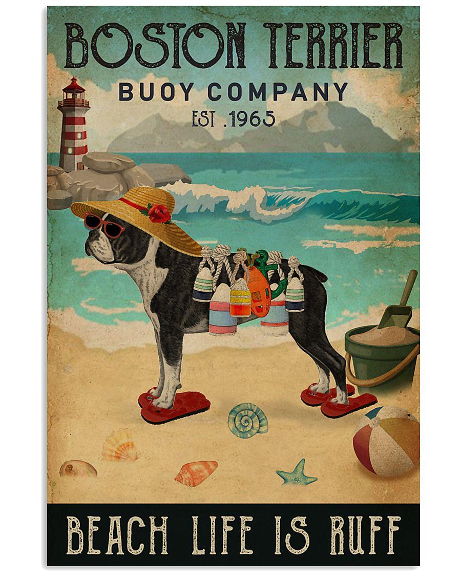 Vintage Buoy Company Boston Terrier 11x17 Poster