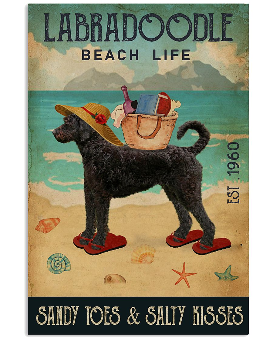 Beach Life Sandy Toes Labradoodle 11x17 Poster
