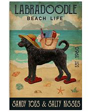 Beach Life Sandy Toes Labradoodle 11x17 Poster front