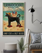 Beach Life Sandy Toes Labradoodle 11x17 Poster lifestyle-poster-1