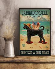 Beach Life Sandy Toes Labradoodle 11x17 Poster lifestyle-poster-3