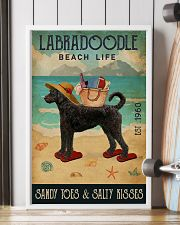 Beach Life Sandy Toes Labradoodle 11x17 Poster lifestyle-poster-4