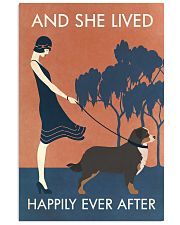 Vintage Girl She Lived Happily Bernese Mountain 11x17 Poster front