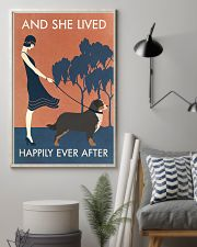 Vintage Girl She Lived Happily Bernese Mountain 11x17 Poster lifestyle-poster-1
