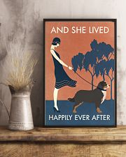 Vintage Girl She Lived Happily Bernese Mountain 11x17 Poster lifestyle-poster-3