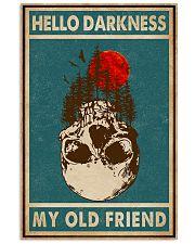 Retro Green Skull Hello Darkness 11x17 Poster front