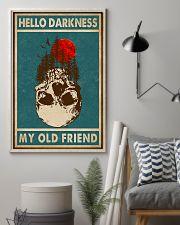 Retro Green Skull Hello Darkness 11x17 Poster lifestyle-poster-1