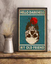 Retro Green Skull Hello Darkness 11x17 Poster lifestyle-poster-3