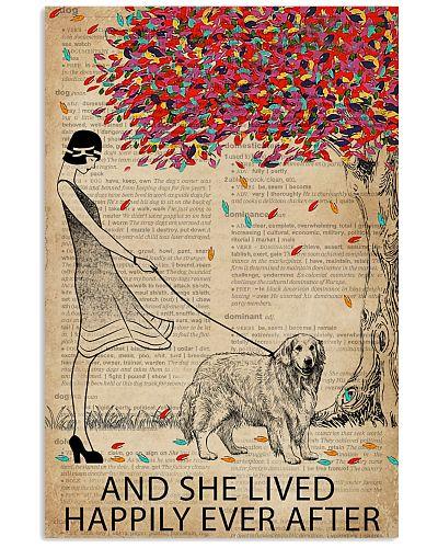 Live Happily Dictionary Tree Golden Retriever