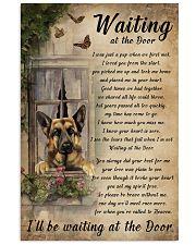 Vintage Waiting At The Door German Shepherd 11x17 Poster front