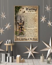 Vintage Waiting At The Door German Shepherd 11x17 Poster lifestyle-holiday-poster-1