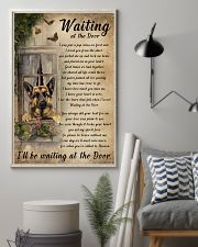 Vintage Waiting At The Door German Shepherd 11x17 Poster lifestyle-poster-1