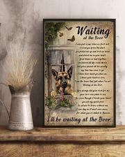 Vintage Waiting At The Door German Shepherd 11x17 Poster lifestyle-poster-3