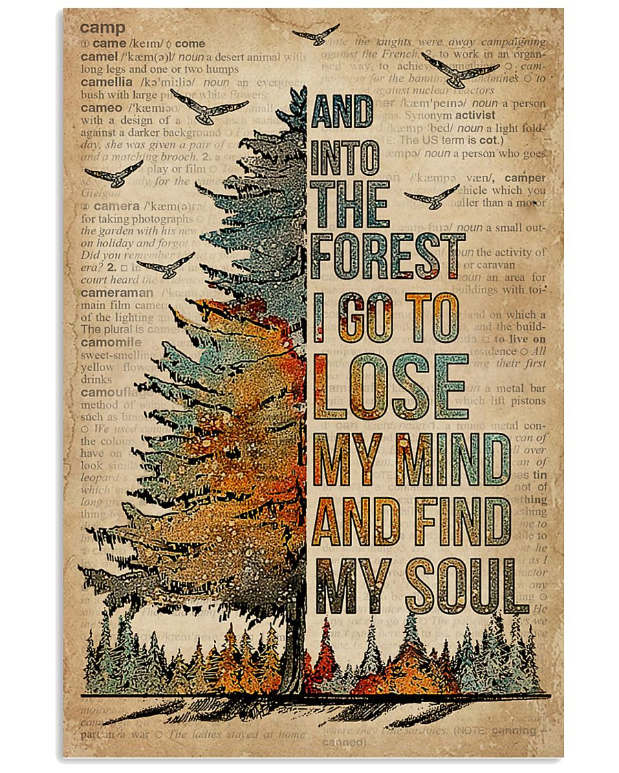 Dictionary Camping And Into The Forest 11x17 Poster