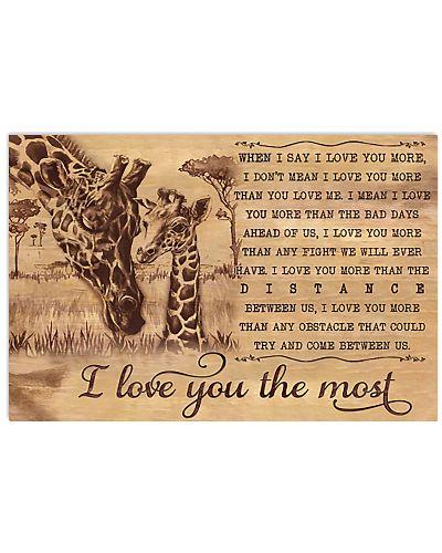 Giraffe I Love You The Most