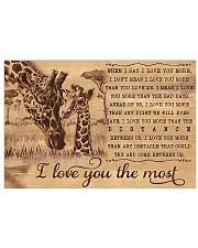 Giraffe I Love You The Most 17x11 Poster front