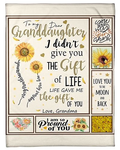 Grandma To Granddaughter Gift Of You Sunflower