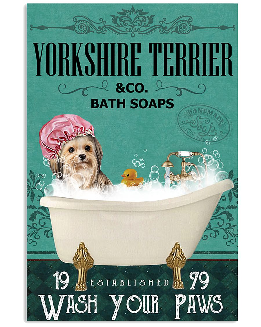 Green Bath Soap Company Yorkshire Terrier 11x17 Poster