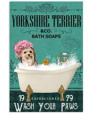 Green Bath Soap Company Yorkshire Terrier 11x17 Poster front