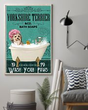 Green Bath Soap Company Yorkshire Terrier 11x17 Poster lifestyle-poster-1