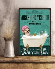 Green Bath Soap Company Yorkshire Terrier 11x17 Poster lifestyle-poster-3